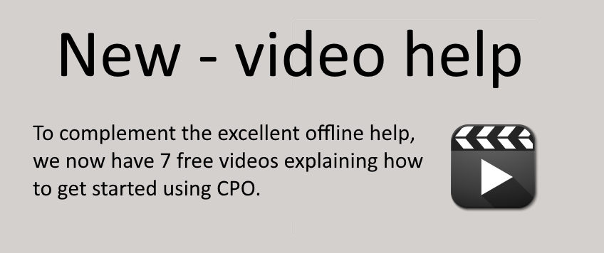 Video examples using CPO